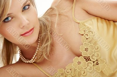 mysterious blue-eyed blond in pearls 2