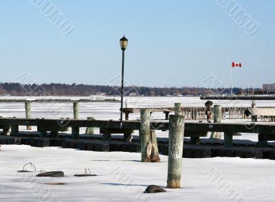 Empty Winter Marina