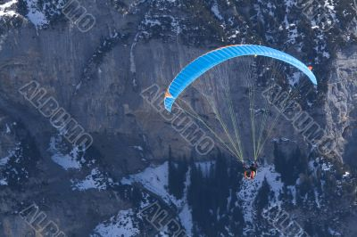 Hovering Paraglider. Extreme sports