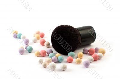 makeup powder with brush