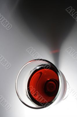 Wine with shadow