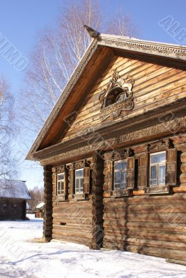 Old wooden house with rich fretwork
