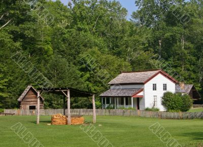 White Farm building