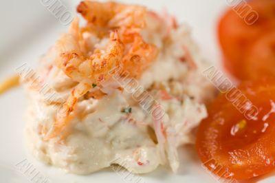 River crayfish salad