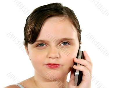 Suspicious Child With Cell Phone