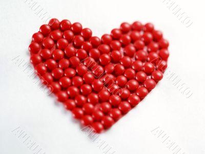 heart from ceramic bead