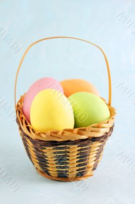 Hard sugar coated chocolate eggs