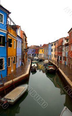 canal in Burano fishermen`s island