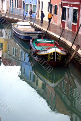 canal in Burano island