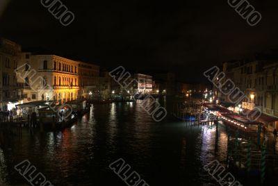 Grand Canale in Venice night