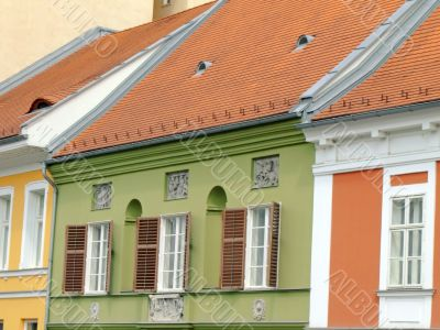 Colored hungarian houses