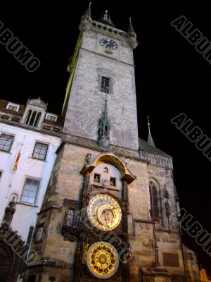 Town hall clock tower, Prague
