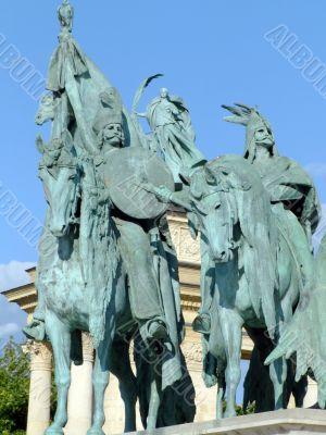 Equestrian statues