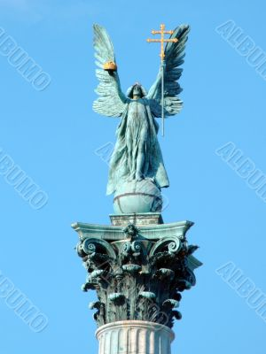 Top of the column in Heroes` Square