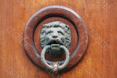 Doorknocker with lion head