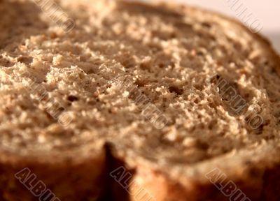 Slice of bread closeup