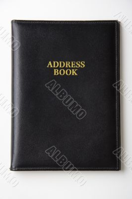 Black leather address book / directory