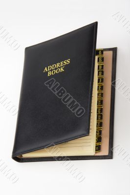 Address book with tabs