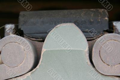 Track of tank closeup