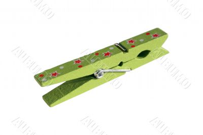 Decorated wooden peg