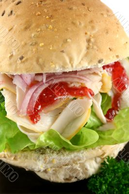 Turkey And Salad Roll