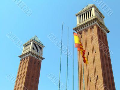 Venetian towers in Barcelona