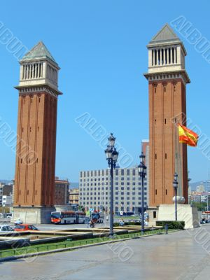 Plaza d`espana and venetian towers