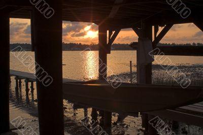 Boat Dock Sunrise or Sunset