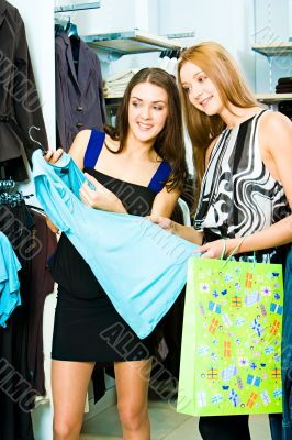 In the clothing department