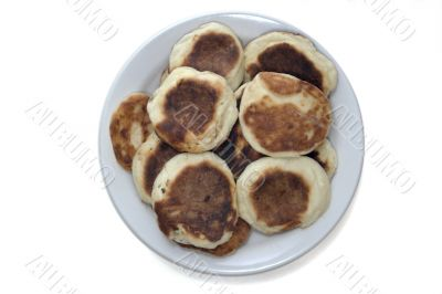 cottage cheese pancakes in a plate