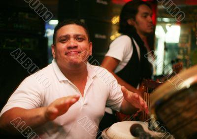 Smiling musician