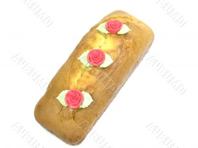 Plum Cake With Roses