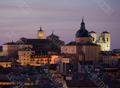 Churches of Toledo at Dusk