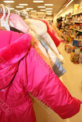 hot pink jacket in childrens department