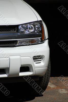 White Truck headlight