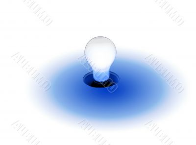Light Blue Lightbulb