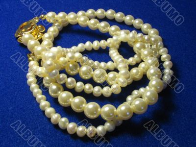Beads from white pearls