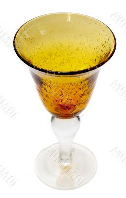 Big yellow wineglass