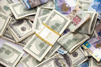 Dollars and tenge