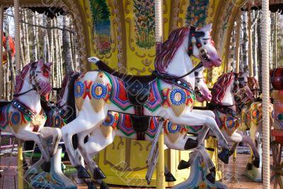 Pony-toy on merry-go-round