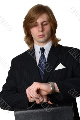A businessman with a brief-case