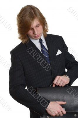 A businessman with a brief-case 3