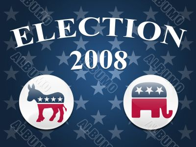 Election 2008 Stars Background