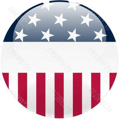 United States Round Button