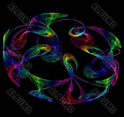 Colourful smokey swirls
