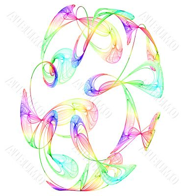 coloured smokey swirls