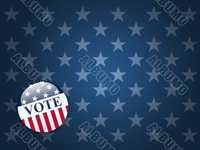 Vote Button on Stars Background