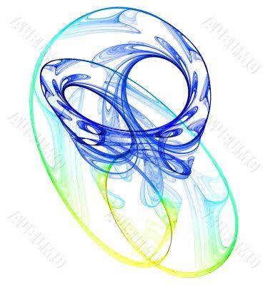 Smokey swirls abstract