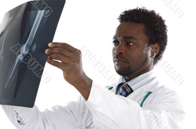 Doctor whit radiography