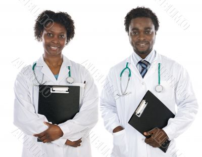 Couple of  African Americans  doctors